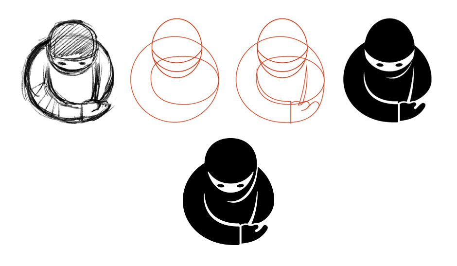 Guest Ninja Logo evolution