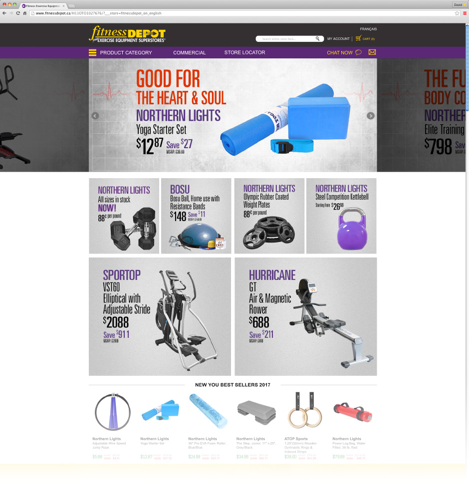 Fitness Depot Homepage